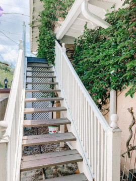 Stairs to Ivy Cottage